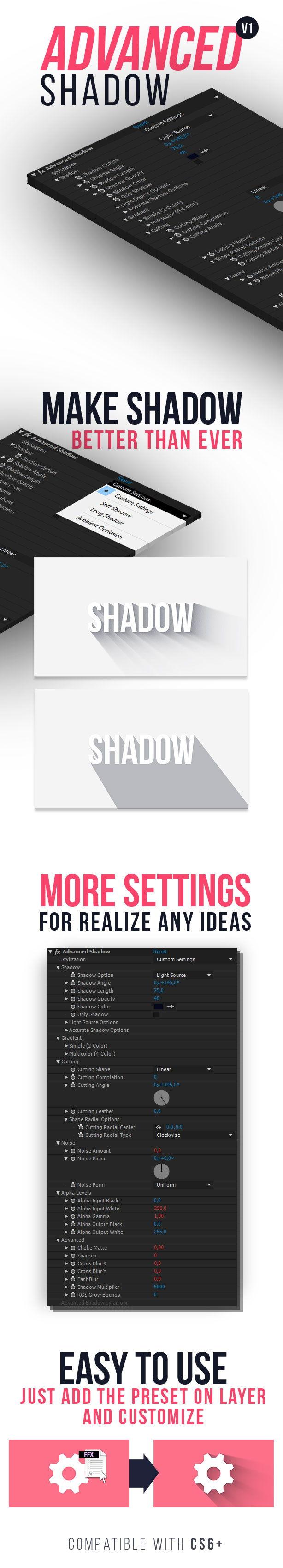 دانلود پریست افترافکت سایه videohive : Advanced Shadow